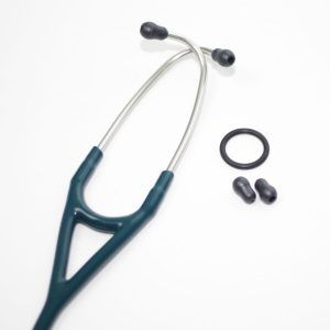 Estetoscopio Cardiology IV, Acabado Espejo, con tubo color Azul Caribe, 69 cm,modelo 6169